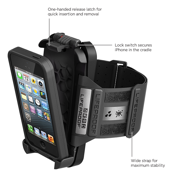 Coque frē pour iPhone 5 de LifeProof Brassard