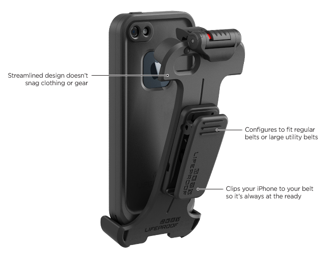 LifeProof iPhone 5 frē Gürtelclip