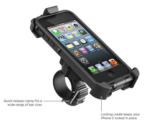 LifeProof iPhone 5 frē 自行車 + 手把手機架