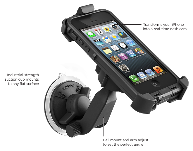 Supporto da auto con ventosa per iPhone 5 fr?