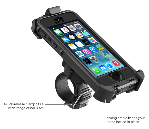 LifeProof iPhone 5s frē Bike + Bar Mount