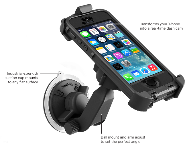 LifeProof iPhone 5s frē Suction Cup Car Mount