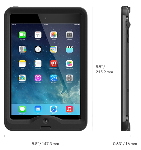 Lifeproof iPad Mini nüüd Case Review WalkHikeClimb