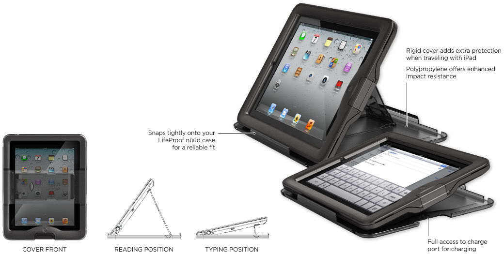 LifeProof iPad nüüd 커버 + 스탠드