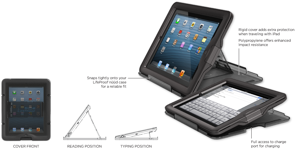 LifeProof iPad nüüd Coperchio + Supporto