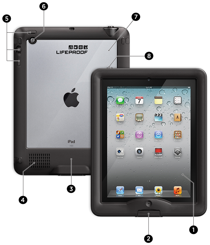 LifeProof iPad nüüd 的 8 層防護