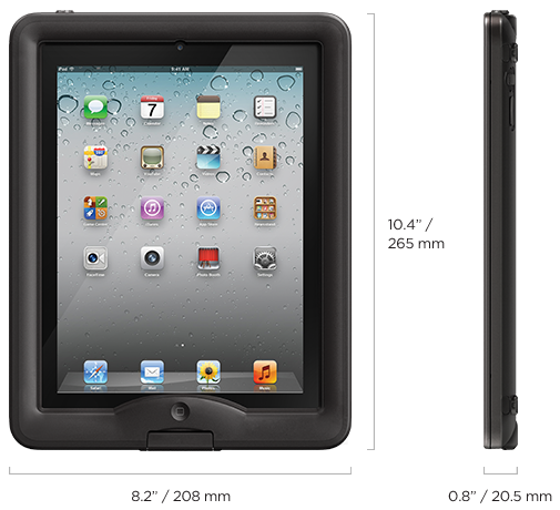 LifeProof iPad nüüd 기술 사양