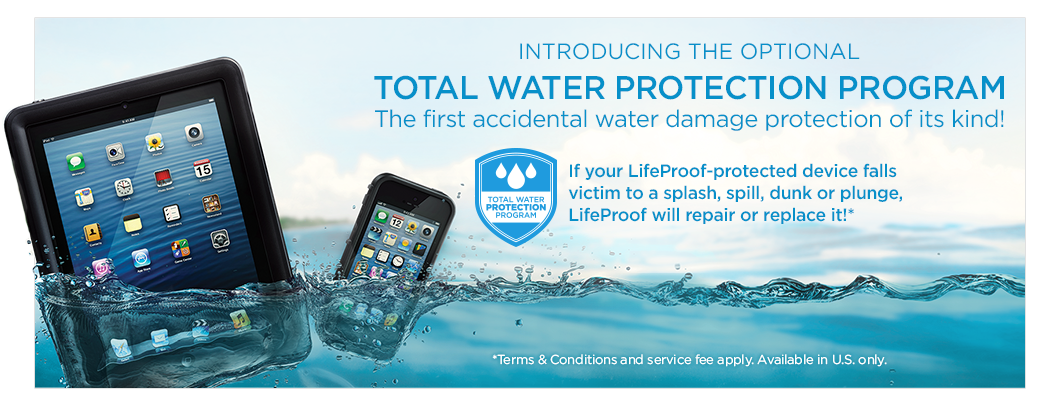 Introducing the optional Total Water Protection Program – the first accidental water damange protection of its kind!